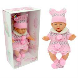 Gerçek Yüzlü Elbiseli Azra Et Bebek Pembe