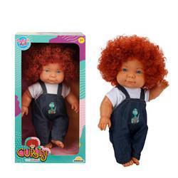 Curly Bebek Tulumlu Elbiseli Et Bebek 35 cm