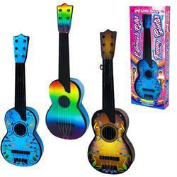 Kutulu Telli Renkli Eğlenceli Gitar Müzik Aleti