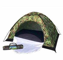 6 Kişilik Asgeri Kamuflaj Desenli Kamp Çadırı 220x250x150 Cm