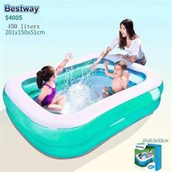 Bestway Büyük Dikdörtgen Aile Havuzu 201x150x51cm