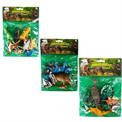 Dinozorların Dünyası Poşetli Hayvan Oyun Seti Orta Boy