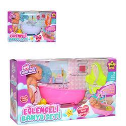 Pilli Küvetli Su Püskürten Oyuncak Banyo Seti