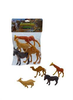 Poşetli Vahşi Hayvanlar 4 Parça Keçi Eşek Deve Zürefa
