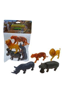 Poşetli Vahşi Hayvanlar 4 Parça