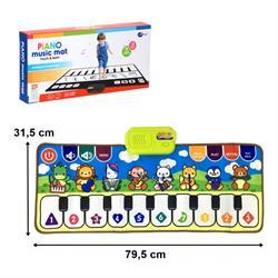 Neşeli Renkli Piyano Oyun Halısı