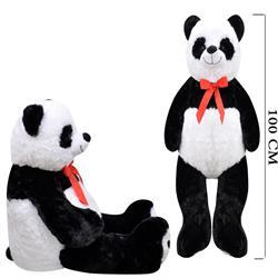 100 Cm Papyonlu Salaş Sevimli Panda Peluş