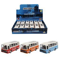 Maxx Wheels Sesli ve Işıklı Nostaljik Halk Otobüsü 15 cm. 1 Adet Fiyatıdır