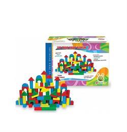 Woodoy Oyuncak 100 Parça Ahşap Bloklar