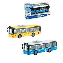 1:16 Sürtmeli Sesli Işıklı Tek Katlı Otobüs 1 Adet Fiyatıdır