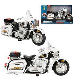 Maxx Wheels Sesli ve Işıklı Polis Motosikleti 34 cm.