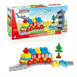 Tren Yol Set Yapı Blokları 36 Parça Lego Oyun Seti